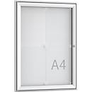 Softline Schaukasten WSM FSK 4, ESG Glas, für 4x DIN A4 Aushänge, Hochformat