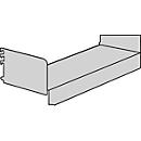 Sokkelbodem, met zijsteunen, voor Variabo draagarmstelling, B 1000 x D 350 mm