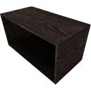 SOLUS PLAY boekenkast, 1 OH, B 800 x D 420 x H 374 mm, Moor-eiken
