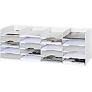 Sortierstation, weiß, 20 Fächer für 240 x 320 mm Formate, B 897 x T 304 x H 313 mm