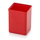 Sortimentskasten Einsatzkasten, quadratisch, robuster Kunststoff, rot
