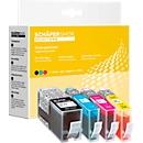 Sparset 4 Schäfer Shop Tintenpatronen, 1 x 934Xl, 3x 935XL (Multipack)