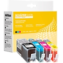 Sparset 4 Schäfer Shop Tintenpatronen, kompatibel zu HP 1 x 934Xl, 3x 935XL (Multipack)
