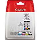 Sparset Canon Tintenptronen CLI-571 C/M/Y/BK ValuePack, schwarz, cyan, magenta, gelb