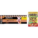 Sparset DURACELL® Batterie Plus Power, Mignon AA, 24 St. + Gratis Haribo