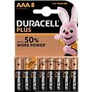 Sparset DURACELL® Batterien Plus, Micro AAA, 1,5 V, 8 Stück