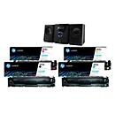 Sparset HP Toner 203A CMYK, 4-teilig, schwarz/cyan/magenta/gelb + Micro Stereoanlage MCD400