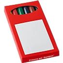 Sparset Mini-Farbstifte, 500 x 6er-Kartonschachtel, farbig sortiert, inkl. einfarbige Werbeanbringung