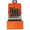 Spiraalborenset Projahn BASIC, 25 korte spiraalboren, in metalen koffer