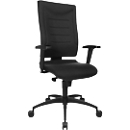 SSI PROLINE P1 bureaustoel, zwart, met armleuningen en lendenwervelsteun, speciale zitting met bekkensteun