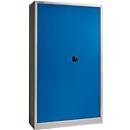 SSI Schäfer Materialschrank MSI 2412, Stahl, 1200 x 400 x 1935 mm, alusilber/enzianblau