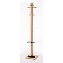 Staande kapstok PAPERFLOW Wood Range, H 1780 mm, 10 haken en parapluhouder, massief beukenhout,