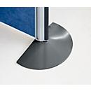 Staander voor aluminium klittenband scheidingswand, antraciet