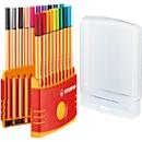 STABILO® fineliner Point 88, in doos van kunststof, 20 stuks