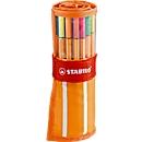 STABILO® fineliner Point 88, in rolset, 30 stuks, diverse kleuren