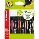 STABILO® GREEN BOSS, 4 st., diverse kleuren