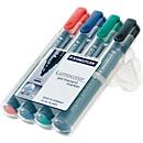 STAEDTLER Lumocolor permanent marker 352, set van 4, diverse kleuren
