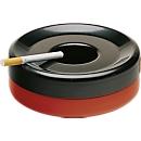 Stahl-Sicherheitsaschenbecher, rot/schwarz