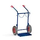 Stahlflaschenkarre, ohne Stützrad, Vollgummi-Reifen