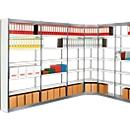 Stahlregal PROGRESS 2000, Regalfeld, ohne Rückwand, H 2600 x B 1000 x T 300 mm, Rahmen silber
