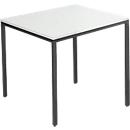 Stahlrohr-Tisch, 800 x 800 mm, lichtgrau/schwarz