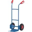 Stahlrohrkarre, bis 200 kg, H 1150 mm, Luftbereifung, blau