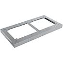 Stahlsockel TETRIS WOOD, für Regale/Schränke B 400 mm