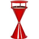 Standascher mit Dach und Bodenronde, Kunststoff, rot