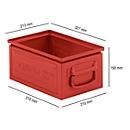 Stapelbak serie ST14/6-3, van staal, inhoud 9,3 l, ideaal voor zware goederen, rood