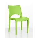 Stapelstoel SOL, ergonomisch gevormd, uv- & weerbestendig, stapelbaar tot 20 stuks, groen