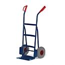 Steekwagen met gebogen achterkant en gebogen laadvlak, draagvermogen 250 kg, banden van massief rubber