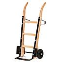 Steekwagen van hout met plaatstalen steekvlak, draagvermogen 250 kg, banden van massief rubber