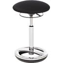 Stehhilfe Sitness HIGH BOB, ergonomisches Sitzen, Sitzhöhe 490 bis 700 mm, schwarz, Gestell verchromt