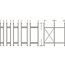 Stellingsysteem R 3000, frame, H 2278 x D 300 mm