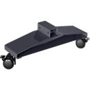 Stellwandrollen Flachfüße Akustika, ideal für Akustika Stellwände, graphit