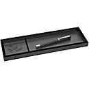 Stiftschale Wedo Black Office, schwarz mattiert/glänzend, 2 Fächer