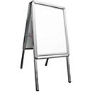 Stoepbord uit aluminium, weerbestendig, voor A2-formaat (420 x 594 mm)