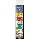 Streifenkalender Happy, B 120 x H 525 mm, Werbedruck 100 x 100 mm