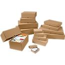 Stülpdeckelkartons, verstärkt, 1-wellig, 110 x 80 x 30-50 mm, 50 Stück