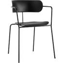 Stuhl BISTRO, Stahlrohr/PP, versch. Farben, B 535 x T 545 x H 760 mm, 4 Stück, schwarz
