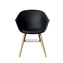 Stuhl Paperflow Wiseman, ergonom. PP-Sitz mit Rücken, PU-Sitzkissen, schwarz, 2er-Set