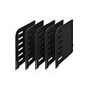 styro® scheidingswand, voor sorteerstation Styrorac, 5 stuks, zwart