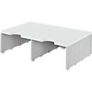 styro® sorteerstation styrodoc Jumbo, C4, 1 etage/2 rijen/2 vakken, grijs