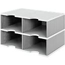 styro® sorteerstation styrodoc Jumbo, C4, 2 etages/2 rijen/4 vakken, grijs