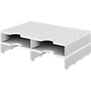 styro® sorteerstation styrodoc Standaard, C4, aanbouweenheid, grijs/grijs