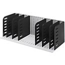 styro® sorteerstation Styrorac, 8 scheidingswanden, flexibele indeling, zwart