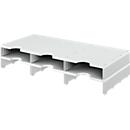 styro® Sortierstation styrodoc Standard, DIN C4, Polysytrol, Anbaueinheit, grau/grau