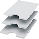 styro® Tablar, für Sortierstation Styrorac, 3 Stück, grau