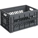 Sunware Klappbox Heavy Duty, Inhalt 45 Liter, Traglast 30 kg, anthrazit