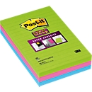 Super post-its, gelinieerd, 101 x 152 mm, 90 notitieboeken, pak met 3 blokken